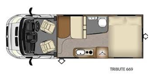 Interior of Tribute 669 4 Berth Motorhome