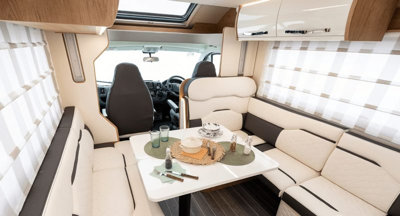 motorhome interior seating area
