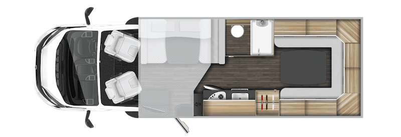layout view of motorhome