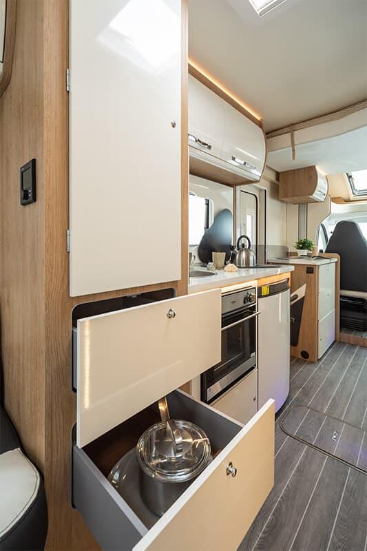 campervan kitchen cupboards