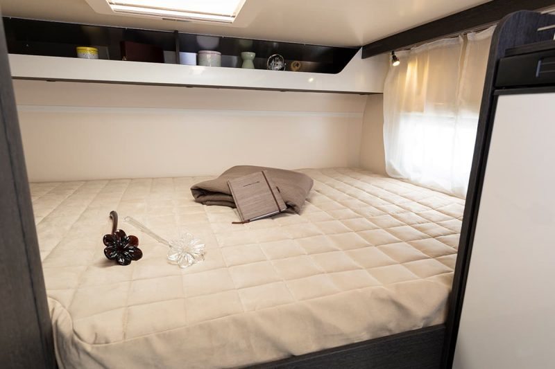 motorhome sleeping area