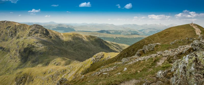 Two munros in one day - a hike from Ben Vorlich to Stùc a' Chroin