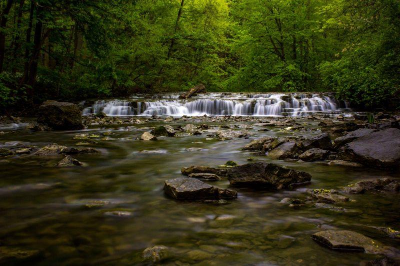 Postcard Falls at Corbetts Glen in Rochester NY